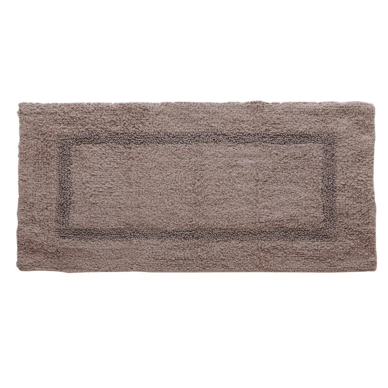 Tappeto In Cotone 100% Con Antiscivolo 60x100 cm Tortora