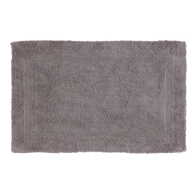 Tappeto In Cotone 100% Con Antiscivolo 60x100 cm Grigio