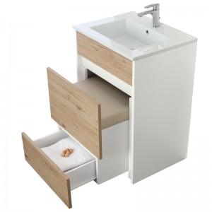 mobile bagno moderno con pouff