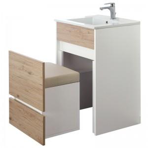 mobile bagno moderno rovere con cassetto