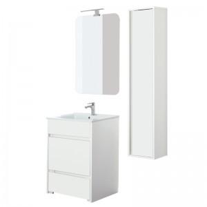 mobile bagno bianco lucido da 60
