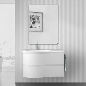 Composizione bagno sospesa Melody 90 bianco opaco