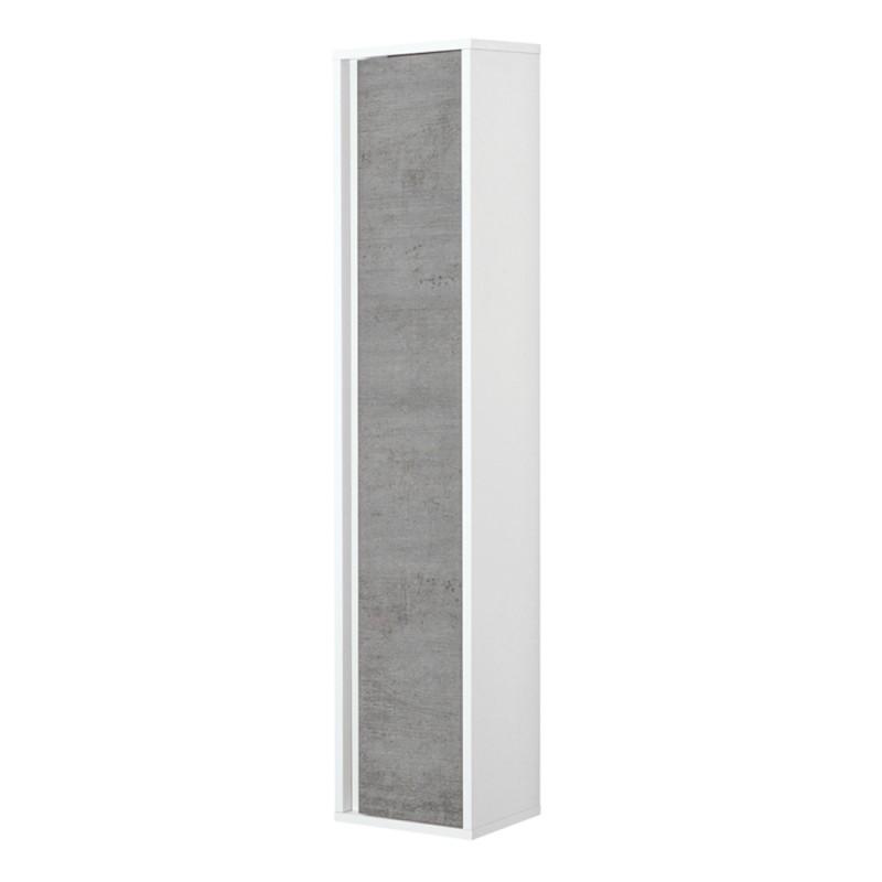 Pensile bagno sospeso Duble H. 150 cm grigio industrial con anta reversibile