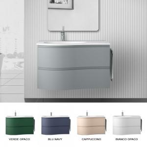 Disponibili colorazioni differenti del mobile bagno sospeso 90 Melody