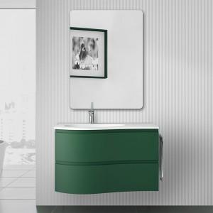 Composizione bagno sospesa Melody 90 verde opaco