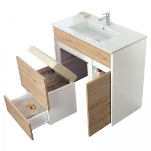mobile 90 bagno design rovere