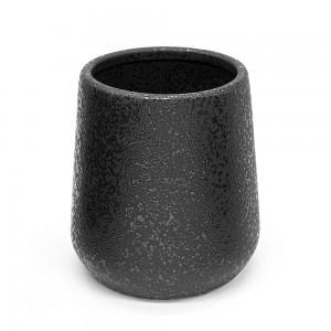 Portaspazzolino in ceramica nero con effetto glitter