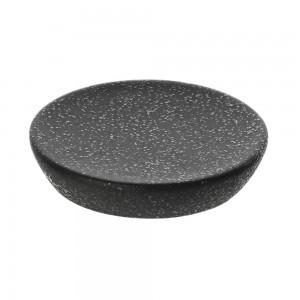 Portasapone da appoggio in ceramica nero con effetto glitter