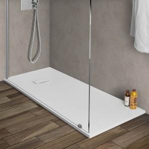 Piatto doccia 70x170 filo pavimento Agorà in resina bianco pietra