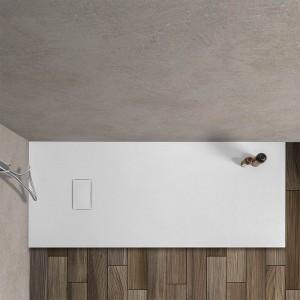 Piatto doccia Agorà 70x170 su misura in resina bianca effetto pietra