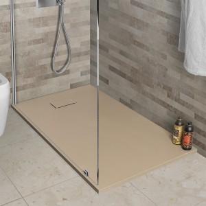 Piatto doccia 80x140 in resina tortora effetto pietra serie Agorà