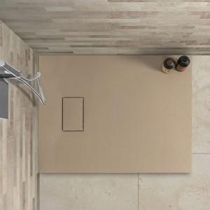 Piatto doccia 70x90 filo pavimento serie Agorà tortora effetto pietra