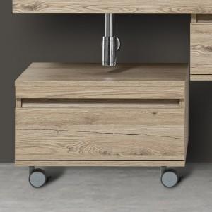 Cassettiera da Bagno Rovere Mod. Shelf L.58 Doppia Installazione