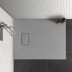 Piatto doccia 70x90 in resina grigio effetto pietra serie Agorà
