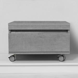cassettiera da bagno grigio