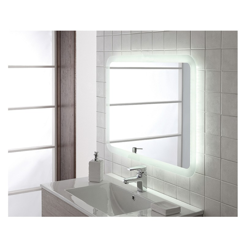 Specchio Retroilluminato Con Luce LED 70x100 Reversibile Moderno