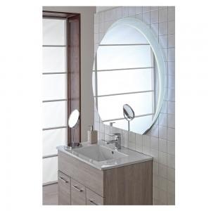 Specchio 108x100 Retroilluminato Luci a LED, Semi Tondo