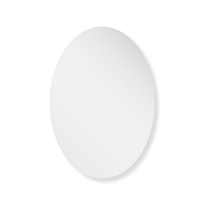 Specchio Decorativo Ovale a Filo Lucido 45x65H Montaggio Reversibile