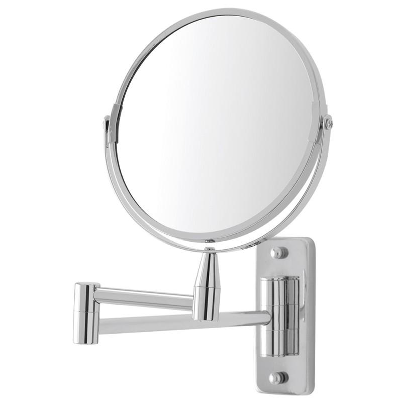 Specchio Beauty da Muro con Braccio Orientabile e Doppio Specchio