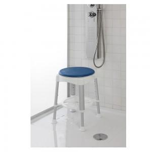 Sgabello Seduta Girevole Alluminio/Idpe Altezza Regolabile e Gommini Antiscivolo