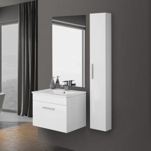 Mobile Bagno Sospeso 61x47 Bianco Laccato 1Anta Specchio Show60 ...