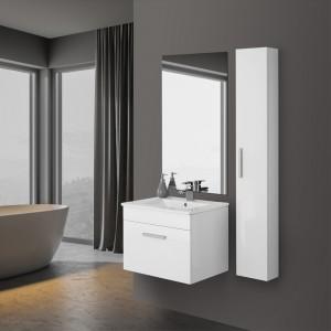 mobile salvaspazio da bagno bianco