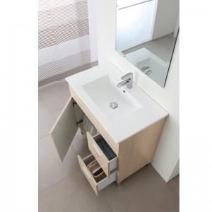 mobile bagno larice 1 anta e 2 cassetti larice