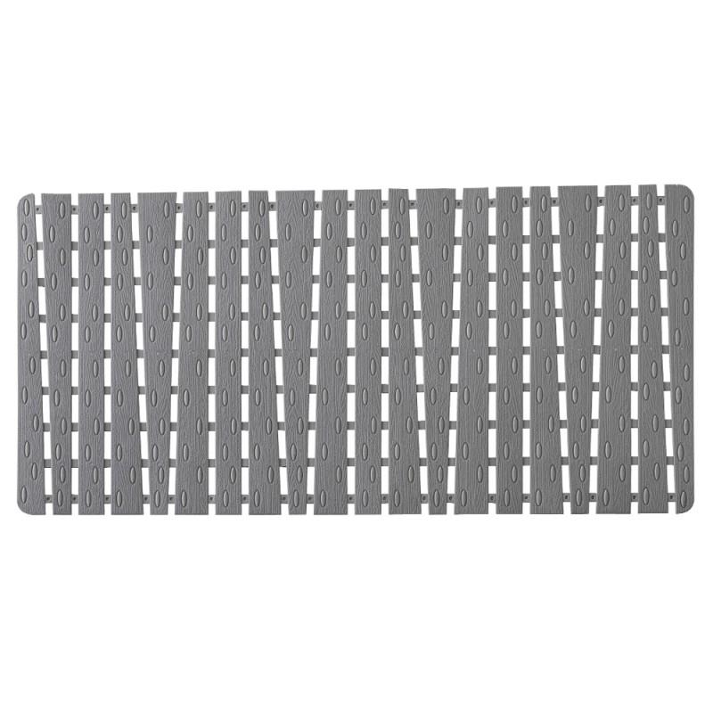 tappeto antiscivolo rettangolare grigio