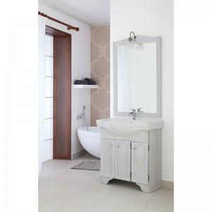 Mobile bagno Bianco 3Ante Massello Verniciato