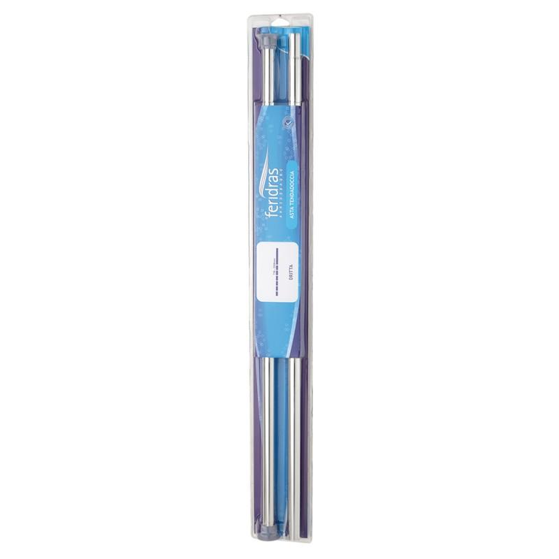Asta Tenda Doccia Regolabile Dritta cromo da 75 a 220 cm