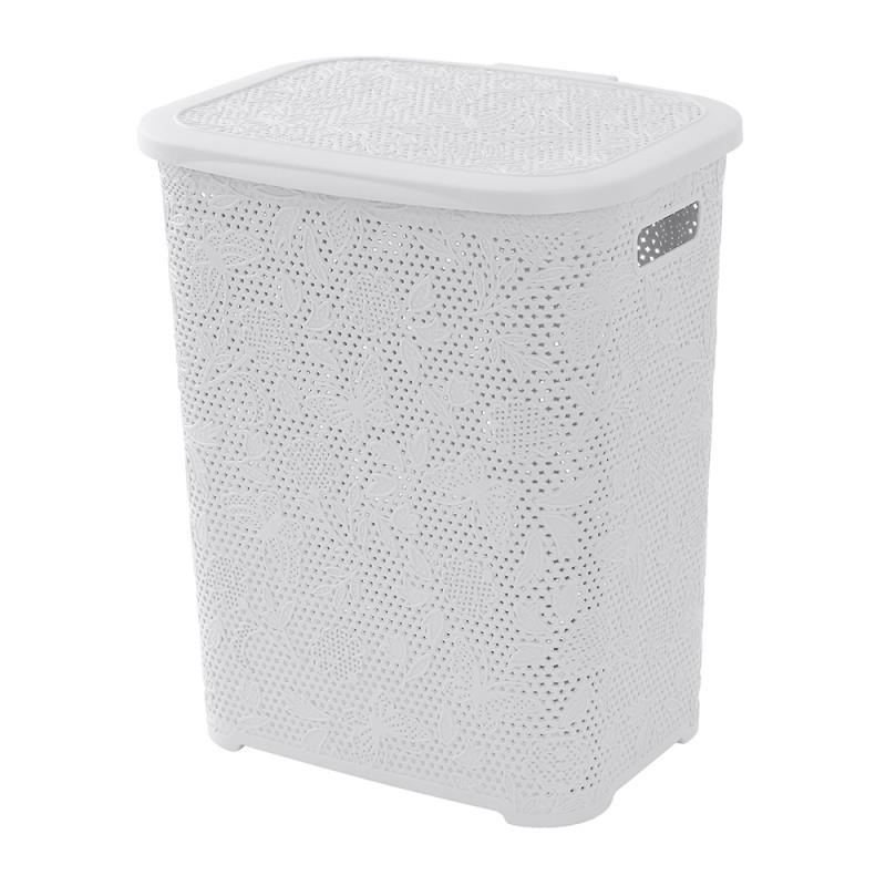 Portabiancheria in Plastica Bianco capienza 50 Lt