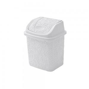 Gettacarte in Plastica Bianco capienza 5,5 Lt