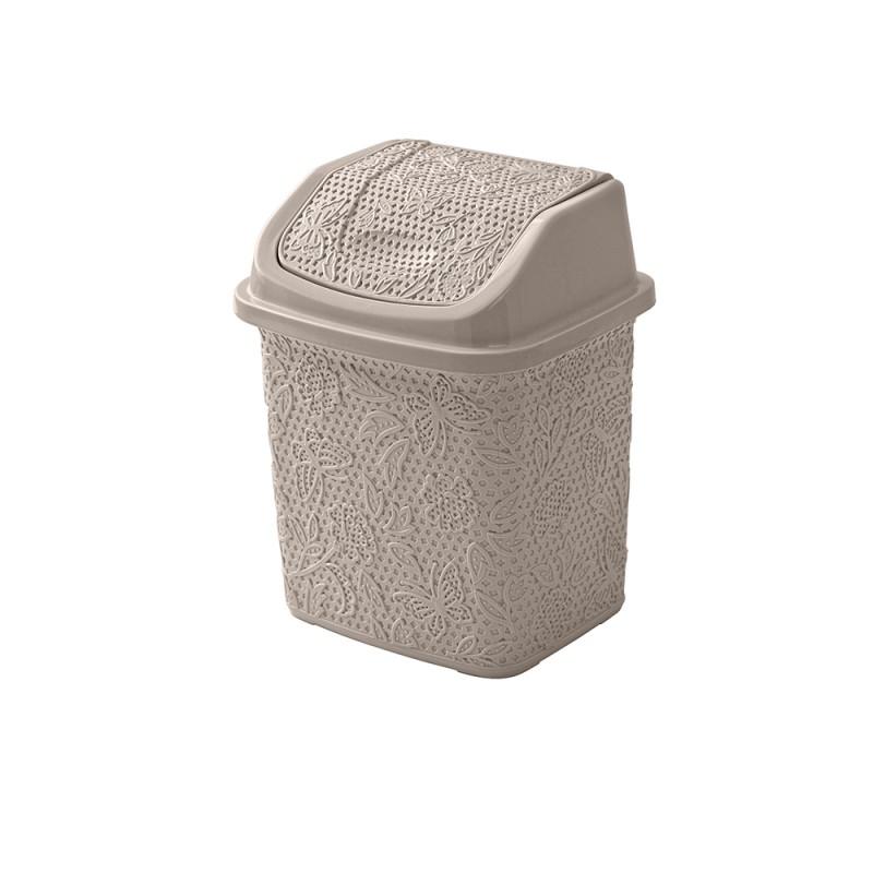 Pattumiera in plastica Tortora capienza 5,5 lt