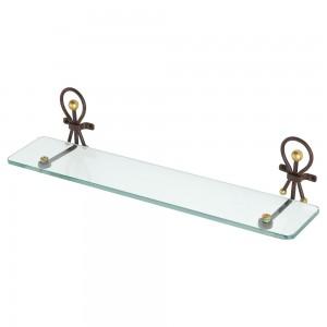 Mensola in ferro battuto e vetro temperato con lavorazione artigianale