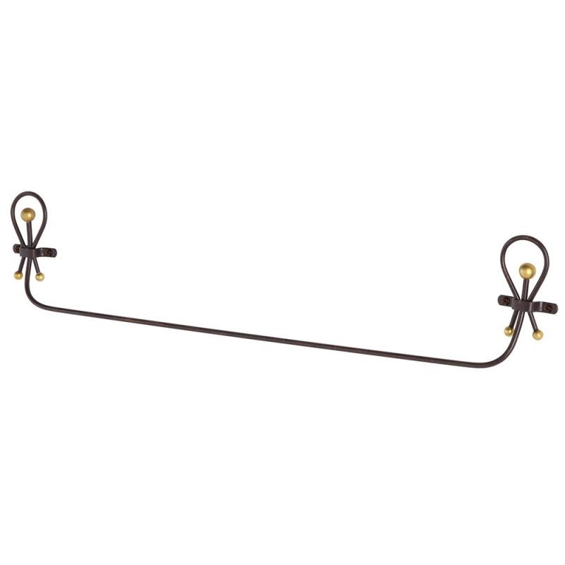 portasciugamani in ferro battuto 60 cm feridras linea golden
