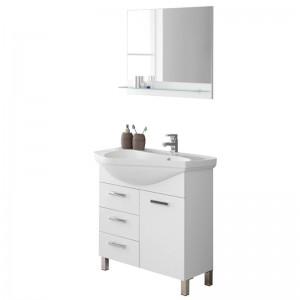 Mobile 80 Lavabo e Specchio Bianco Magnum