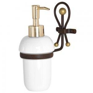 Dispenser Sapone Liquido retrò in ferro battuto dettagli oro