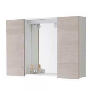 Specchiera 91 x 61 con plafoniera con 2 Lampade 606106 Feridras
