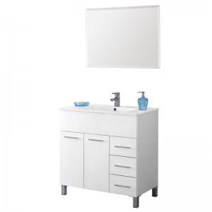 Mobile 80 cm con Lavabo e Specchio Bianco Linea Mondo