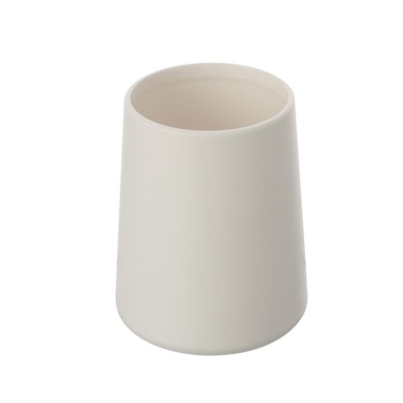 Portaspazzolino In Plastica Bianco da Appoggio Per Bagno Moderno