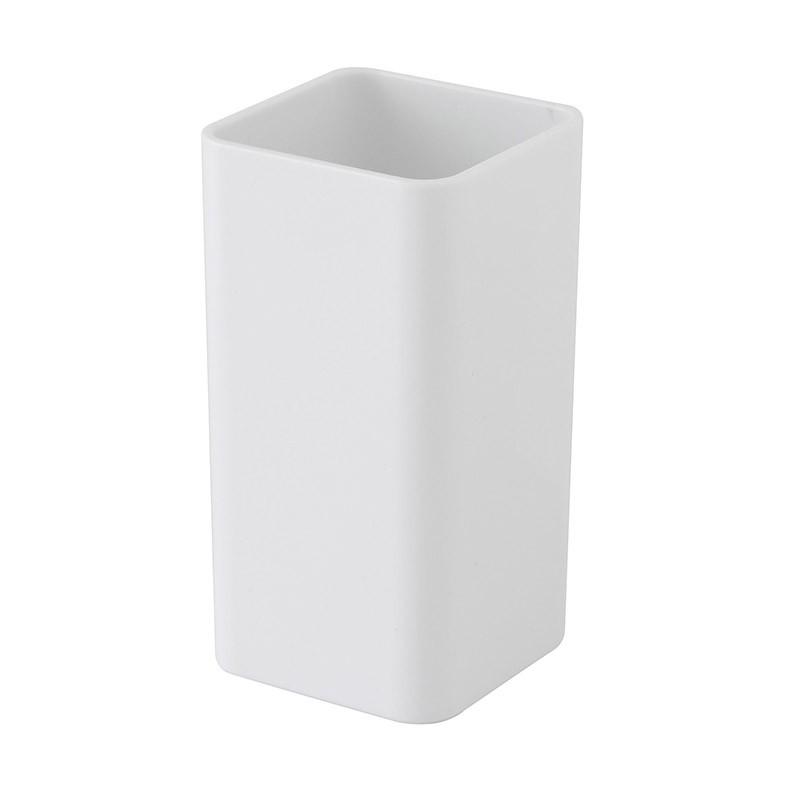 Portaspazzolino in Plastica Bianco Per bagno Moderno