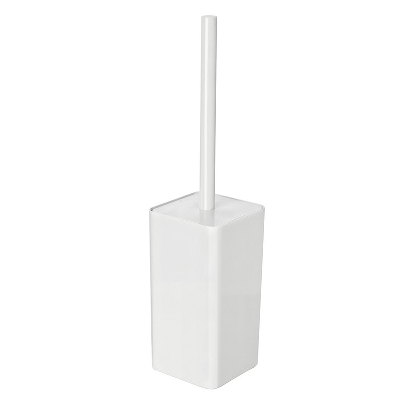 Porta Scopino per WC Bianco con Scopino in setole da Appoggio
