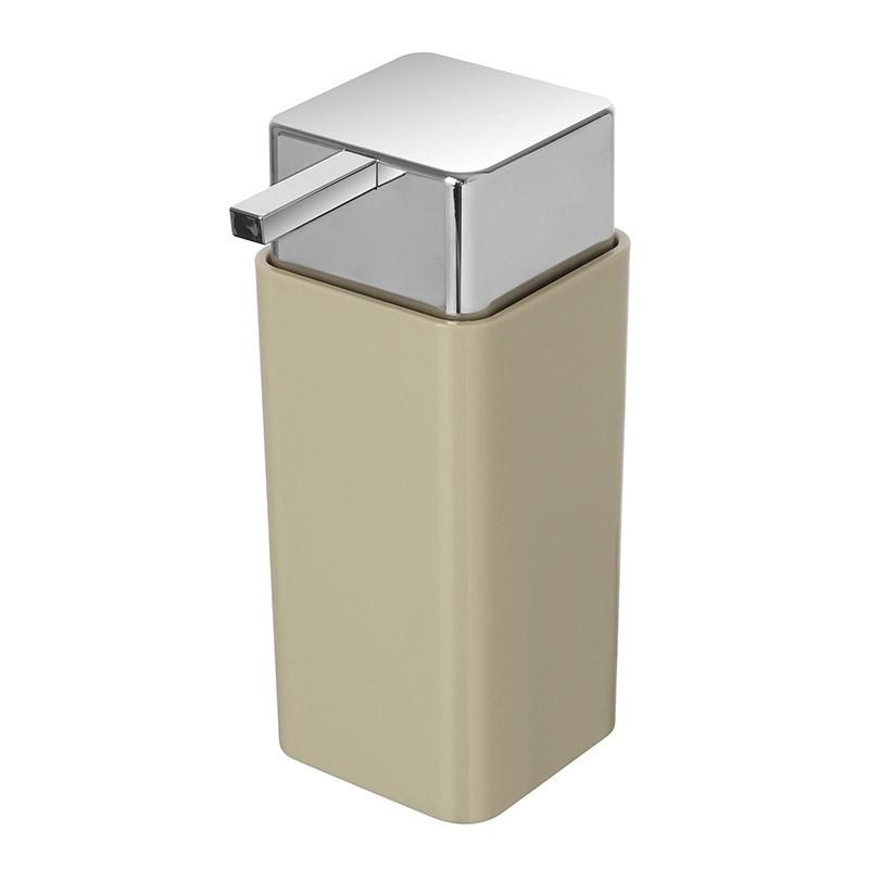 Dispenser Sapone Liquido In Plastica Beige Da Appoggio