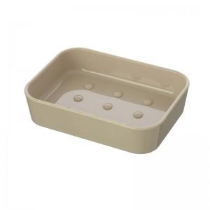 Porta sapone da appoggio in Plastica Beige