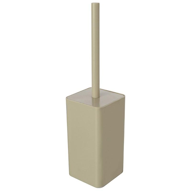 Portascopino Per WC Beige Con Scopino In Setole Da Appoggio
