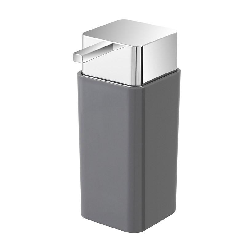 Dispenser Sapone Liquido In Plastica Grigio Da Appoggio