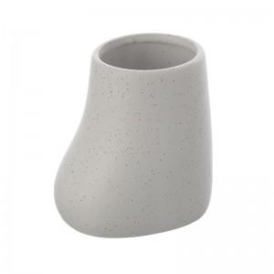 Portaspazzolino in Ceramica Bianco Linea Lima