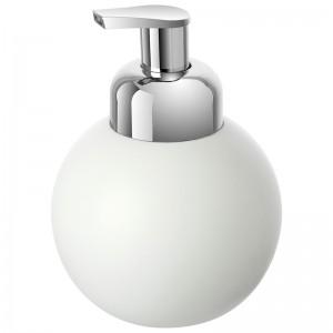 Dispenser Sapone in Ceramica Bianco con Erogatore di Schiuma