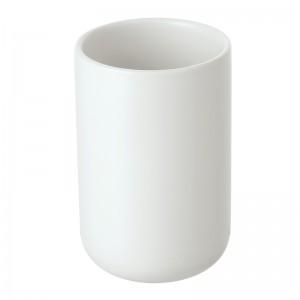 Portaspazzolino in Ceramica Bianco