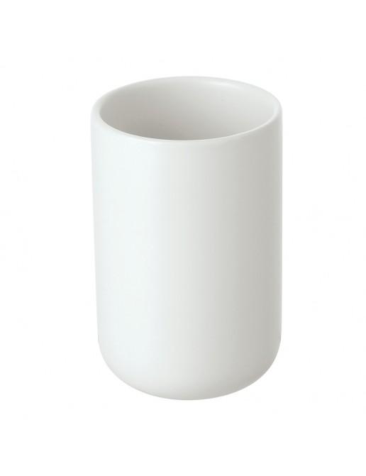 Portaspazzolino in Ceramica Bianco Linea Oslo